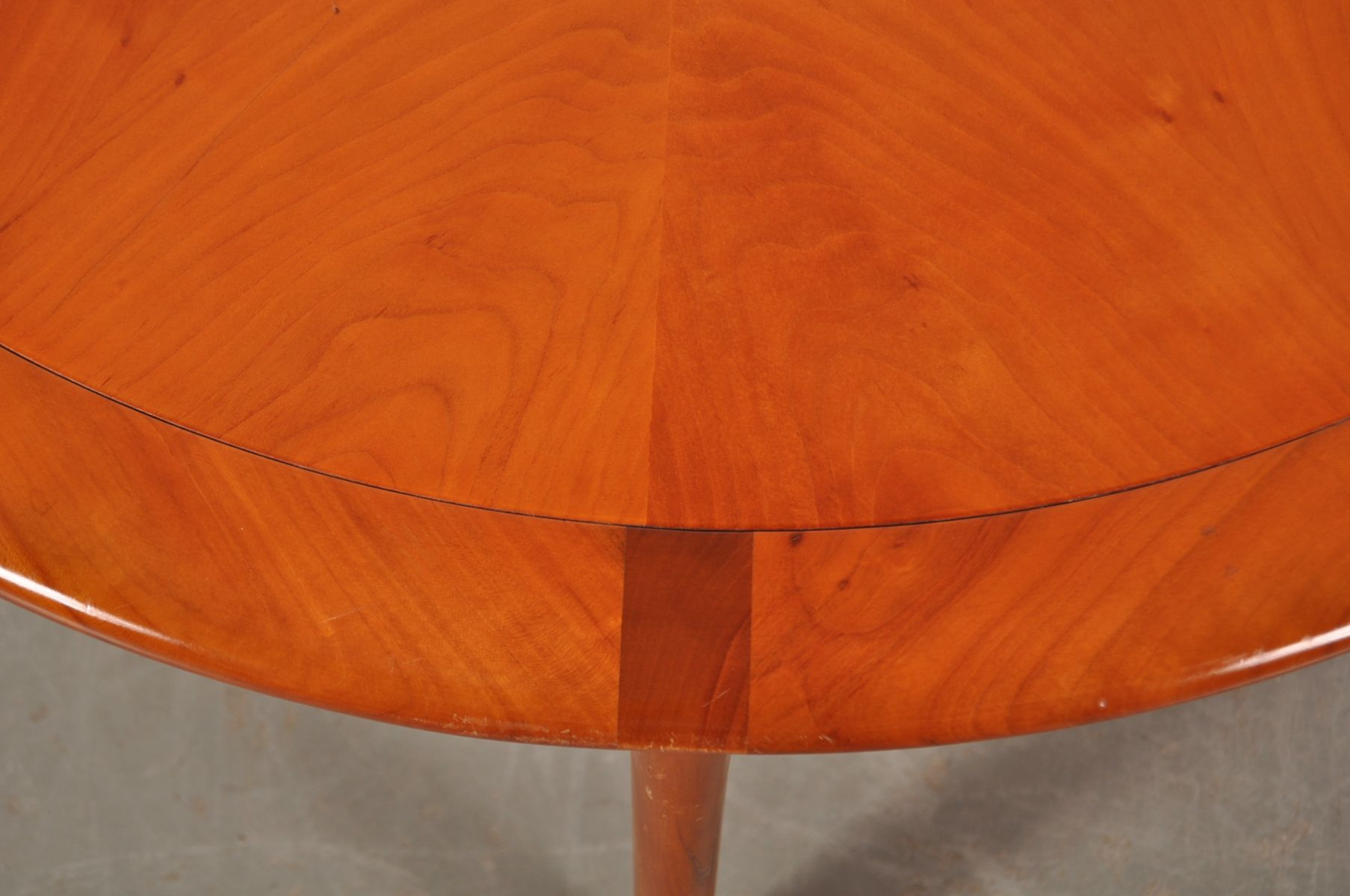 Round Wooden Coffee Table from Walter Knoll 1960s for sale at Pamono
