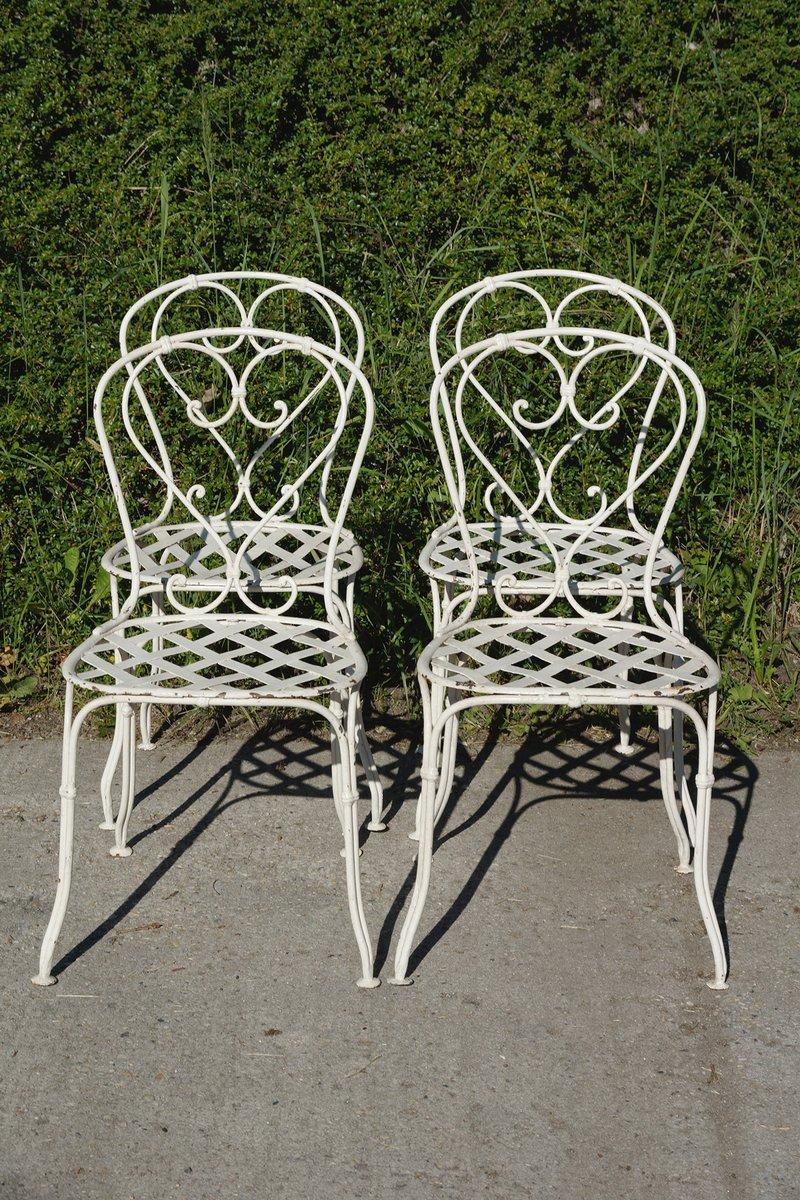 Sedie da giardino in ferro battuto, Francia, metà XIX secolo, set ...