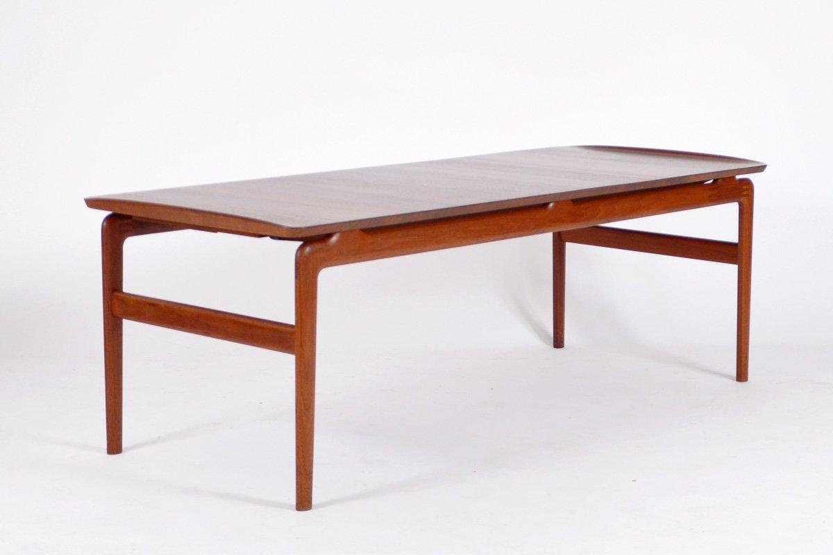 Teak Coffee Table by Hvidt Mlgaard for France Son 1958 for