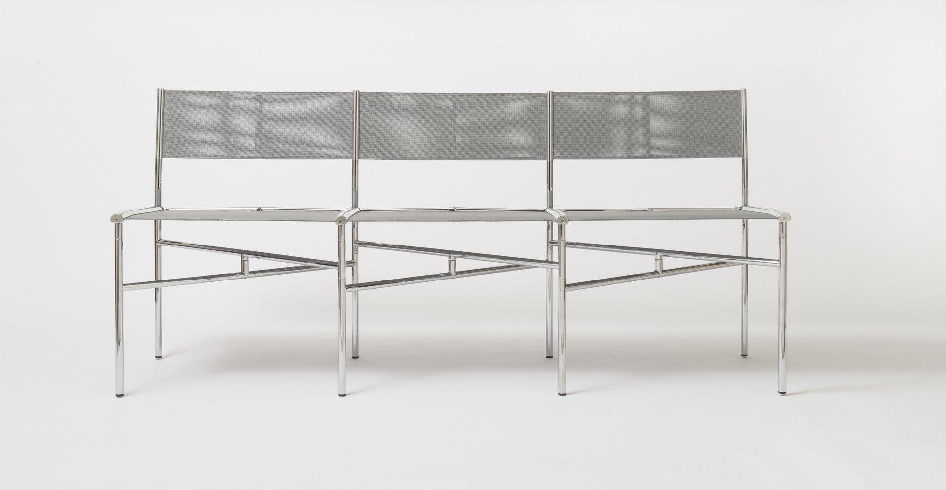 graue batyline st hle von laurence humier 3er set bei pamono kaufen. Black Bedroom Furniture Sets. Home Design Ideas