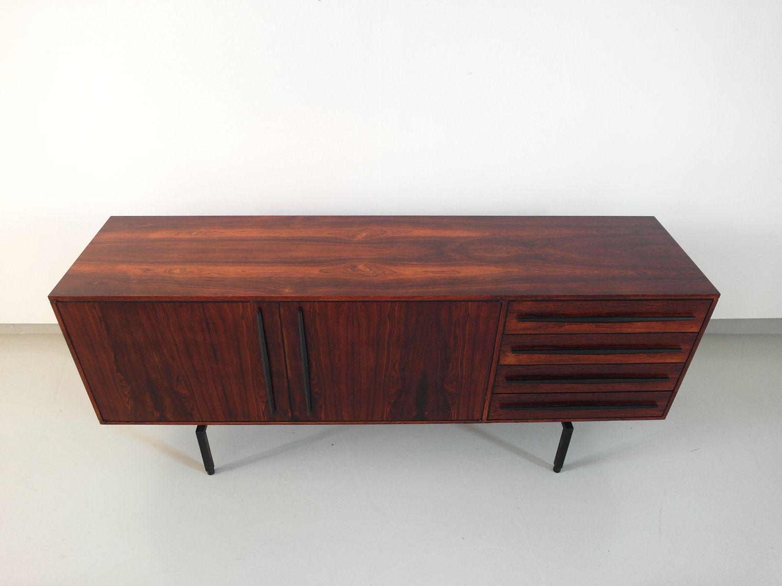 italienisches palisander sideboard mit ebonisierten. Black Bedroom Furniture Sets. Home Design Ideas