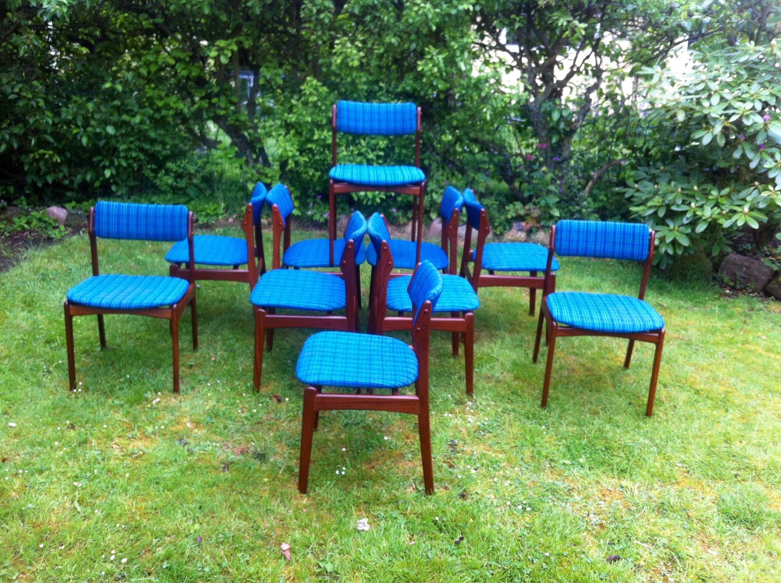 OD49 Dining Chairs by Erik Buch for Poul Dinesen 1970s Set of 10