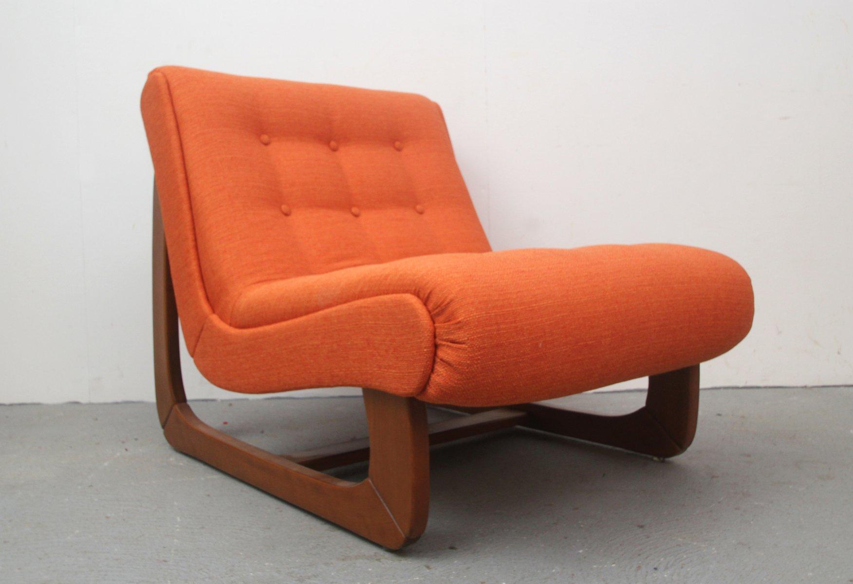 Deutscher orangenfarbener vintage sessel bei pamono kaufen for Sessel auf englisch