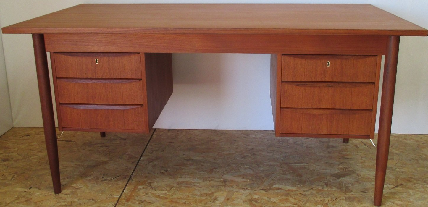 mid by desk danish mobler sale arne century teak vodder for gv bler m
