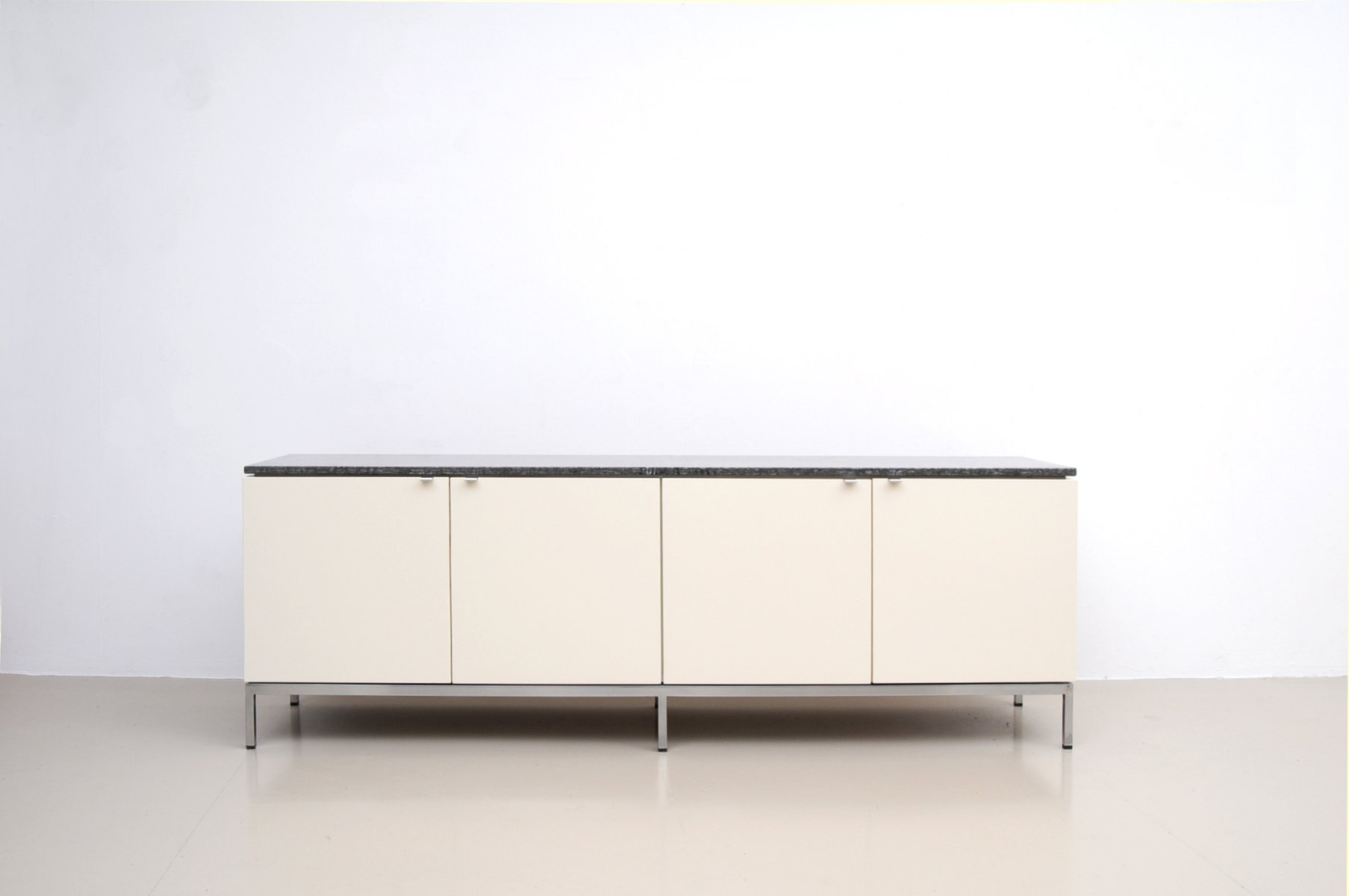 german marble top sideboard by florence knoll for knoll. Black Bedroom Furniture Sets. Home Design Ideas