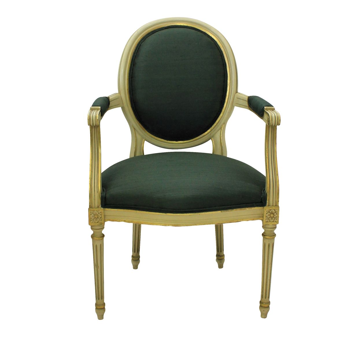 French Painted Amp Gilded Armchairs 1950s Set Of 2 For