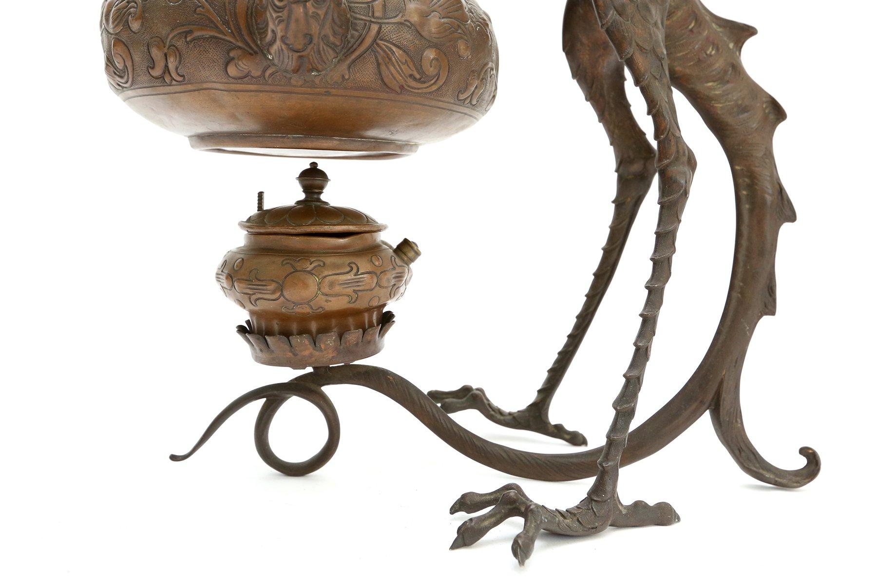 Antique Bronze Dragon Incense Burner for sale at Pamono