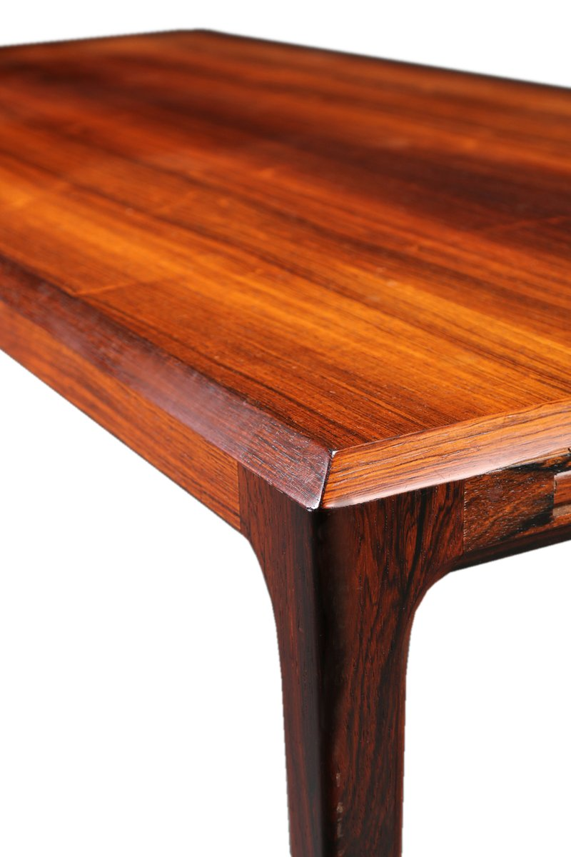 Nice Extendable XL Mid Century Brazilian Rosewood Coffee Table By Johannes  Andersen For CFC Silkeborg