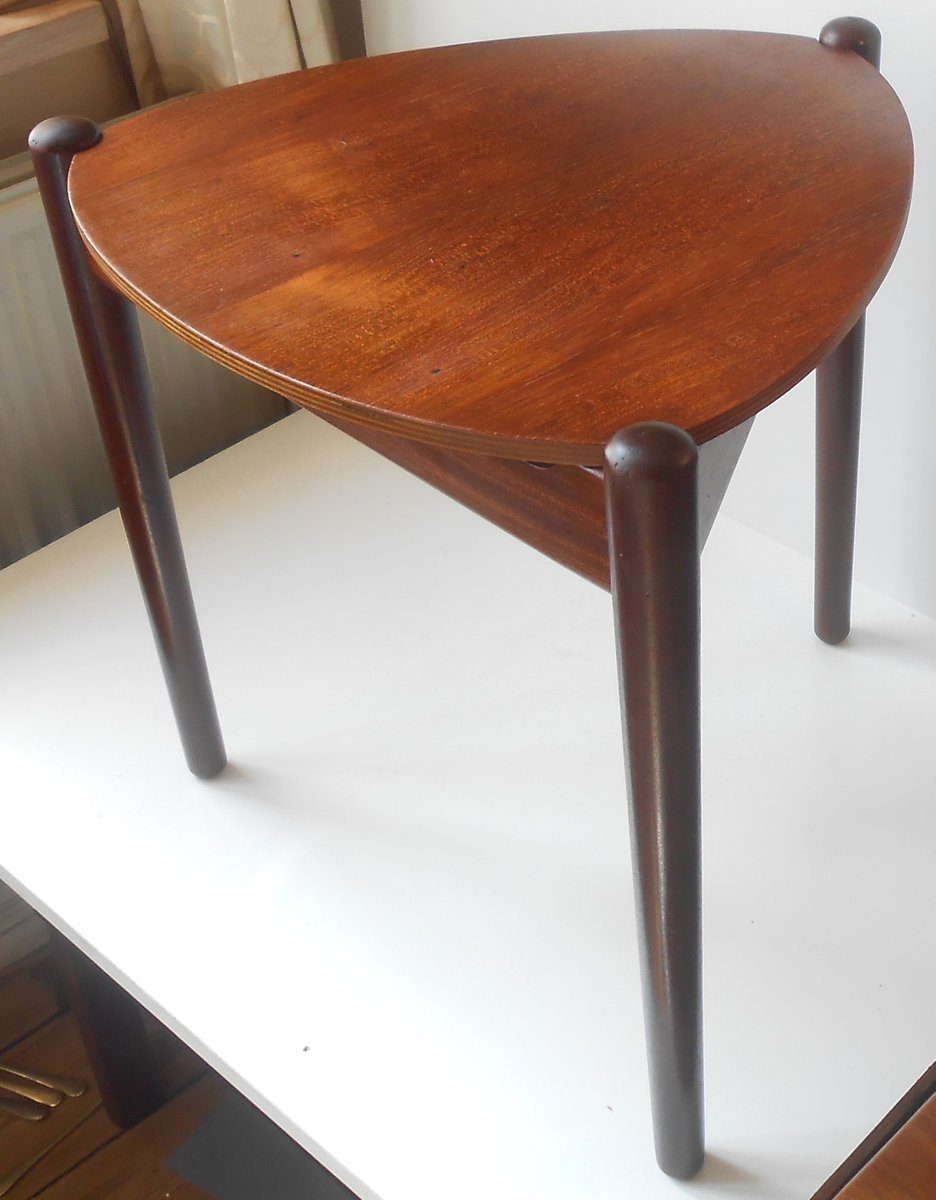 Danish Teak U0026 Wool Stool Or Side Table By Hans Olsen For N. A. Jorgensen  Moebelfabrik, 1950s