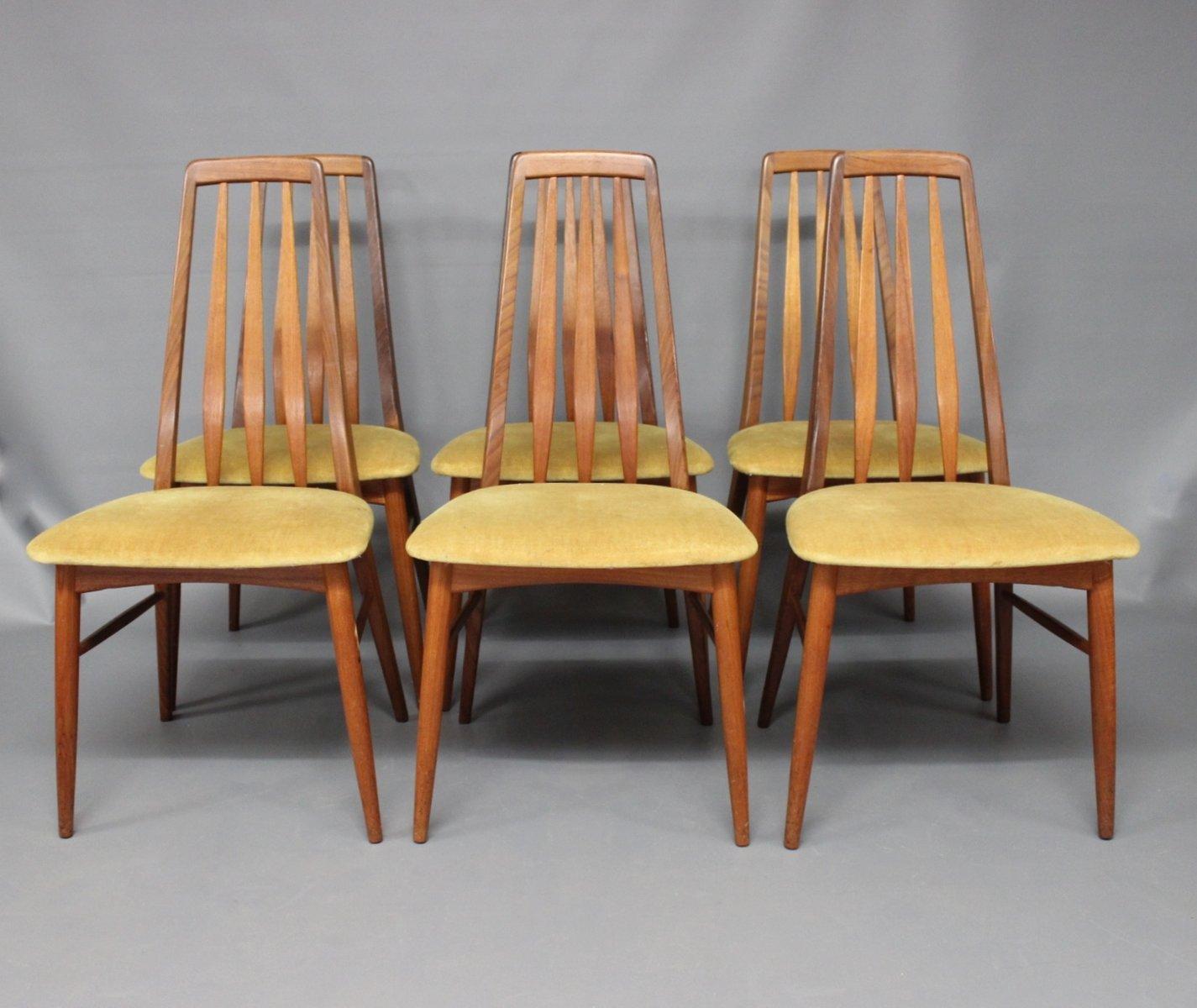 Eva Teak Dining Chairs By Niels Koefoed, 1960s, Set Of 6