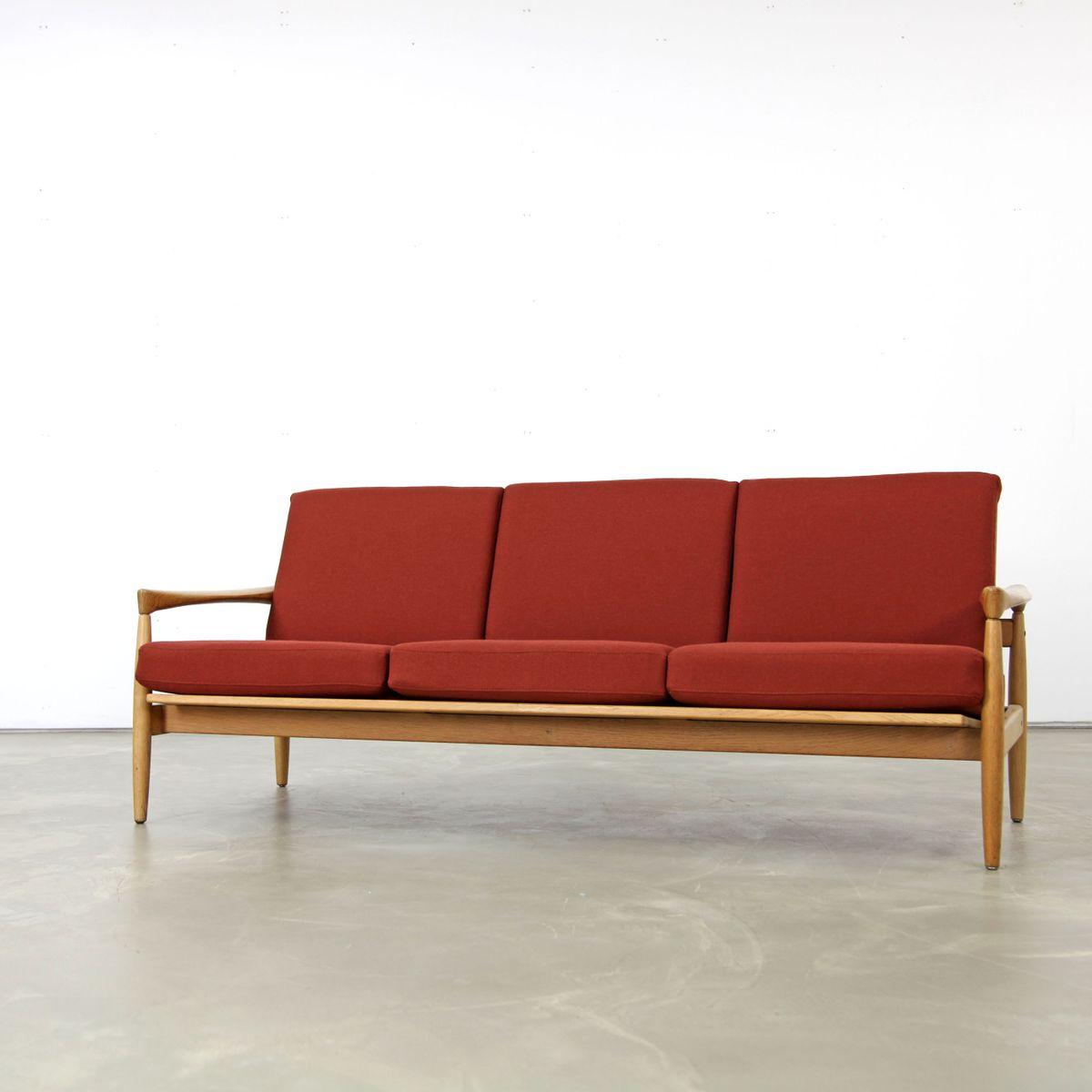 eichenholz sofa von erik w rts f r br derna andersson 1960er bei pamono kaufen. Black Bedroom Furniture Sets. Home Design Ideas