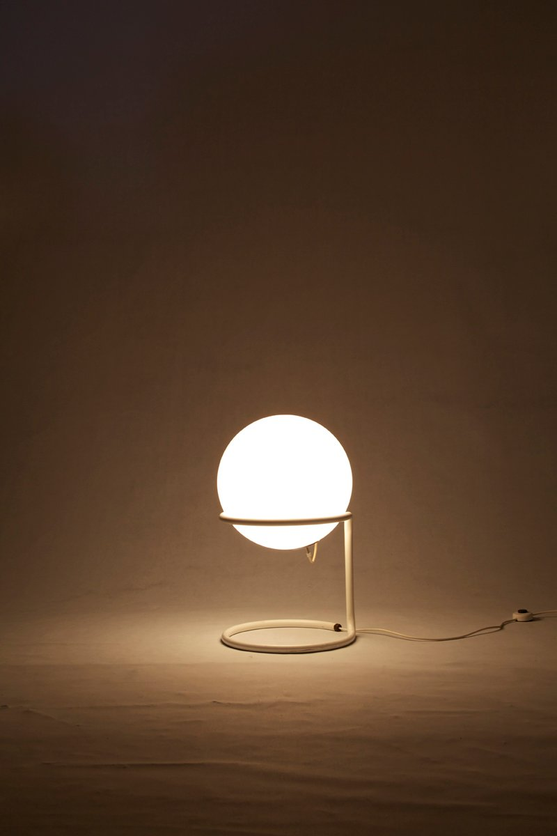 Large Mid Century Glass Ball Floor Lamp From Glash 252 Tte