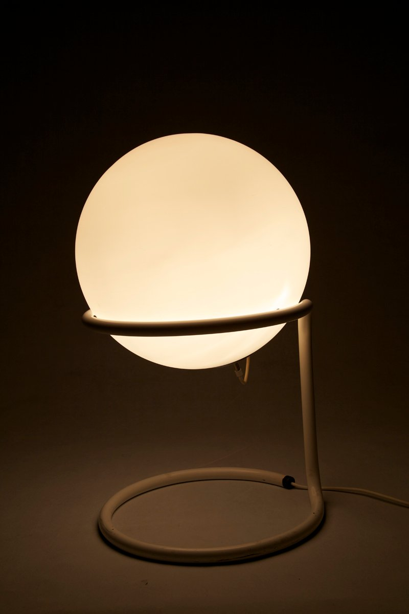 Large Mid Century Glass Ball Floor Lamp From Glashütte Limburg