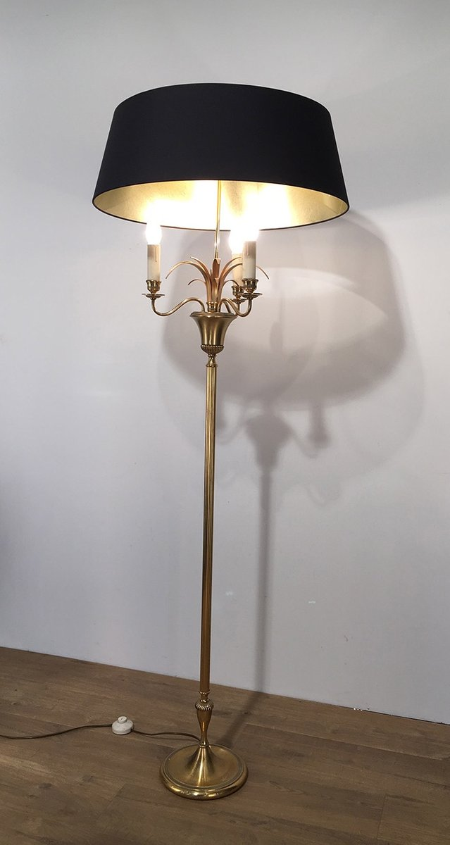 Three Light Brass Floor Lamp 1940s For Sale At Pamono