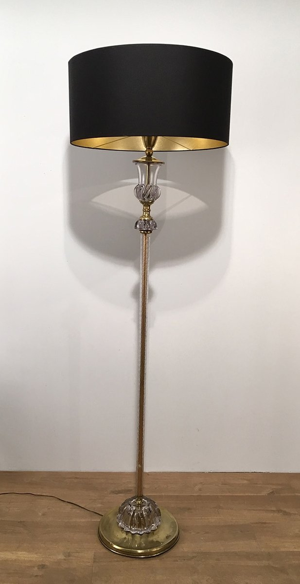 Murano Glass Floor Lamp, 1940s for sale at Pamono