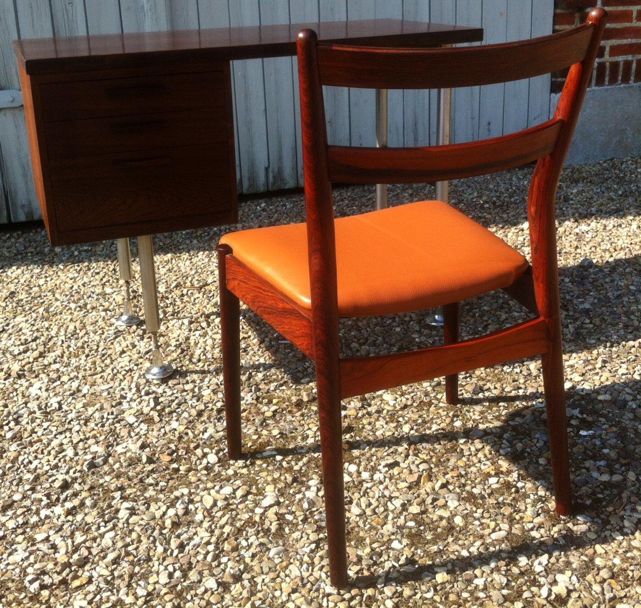 kleiner d nischer moderner palisander schreibtisch mit stuhl aus palisander von arne vodder bei. Black Bedroom Furniture Sets. Home Design Ideas