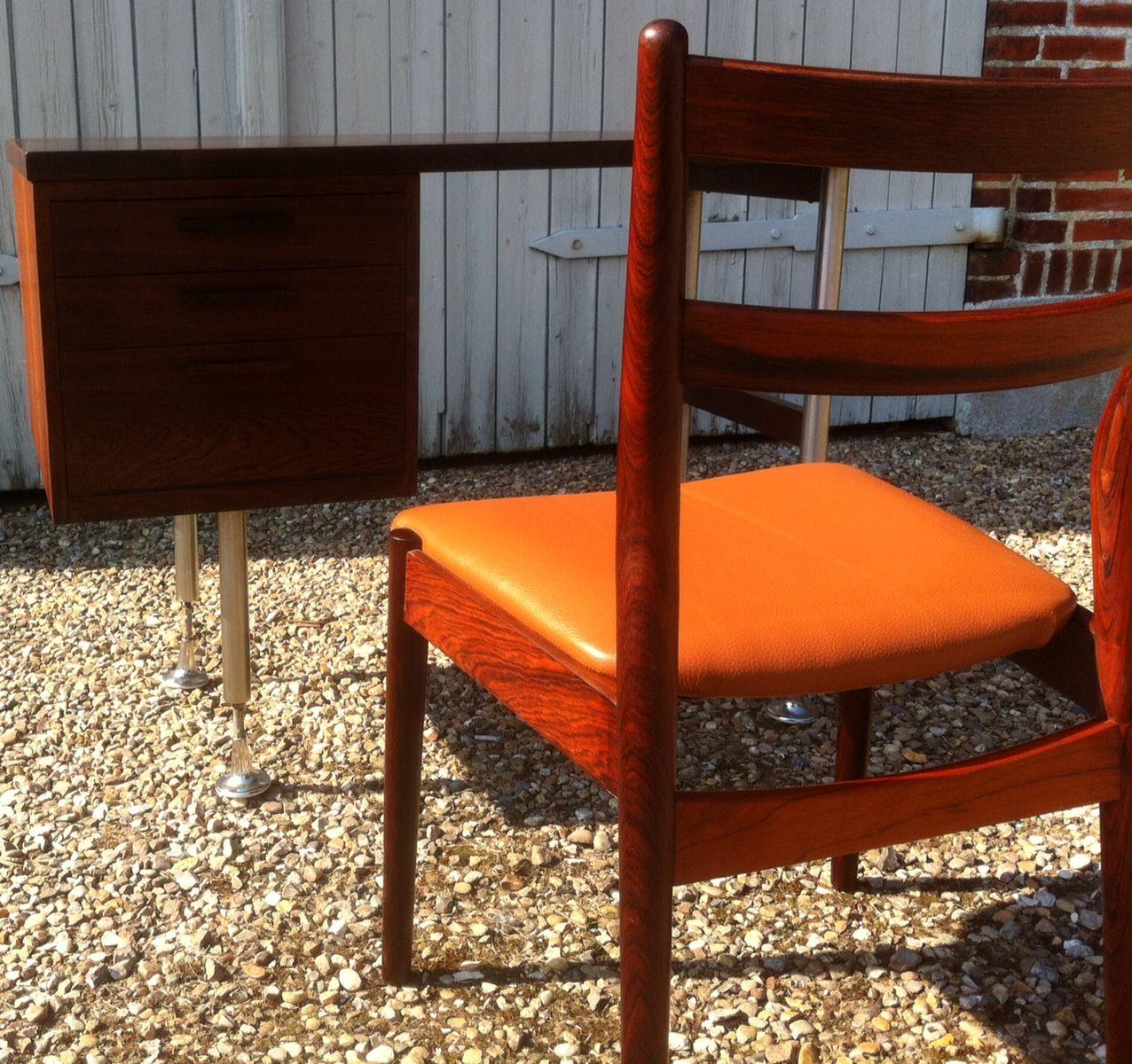 kleiner d nischer moderner palisander schreibtisch mit. Black Bedroom Furniture Sets. Home Design Ideas