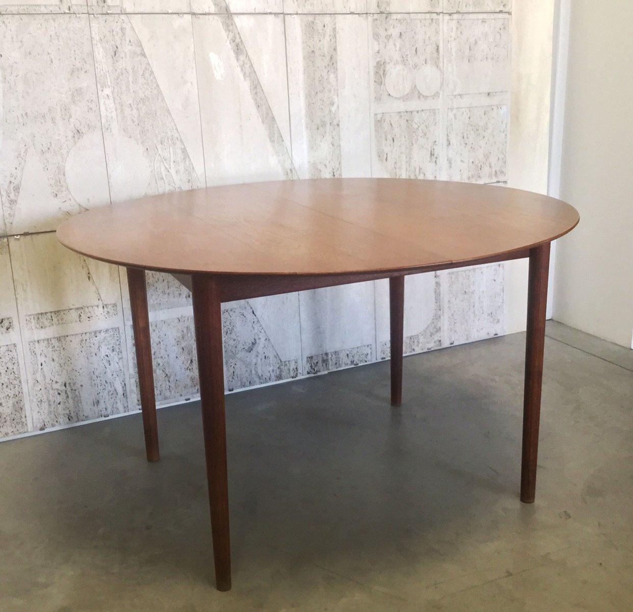 Tavolo da pranzo allungabile vintage, Danimarca in vendita su Pamono