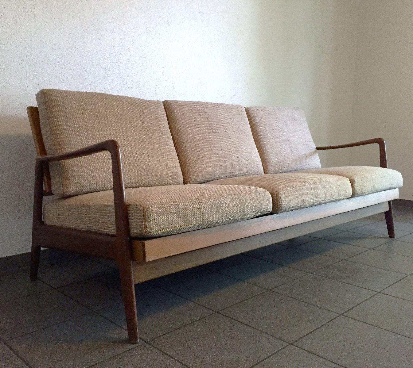d nisches mid century 3 sitzer sofa schlafsofa bei pamono kaufen. Black Bedroom Furniture Sets. Home Design Ideas