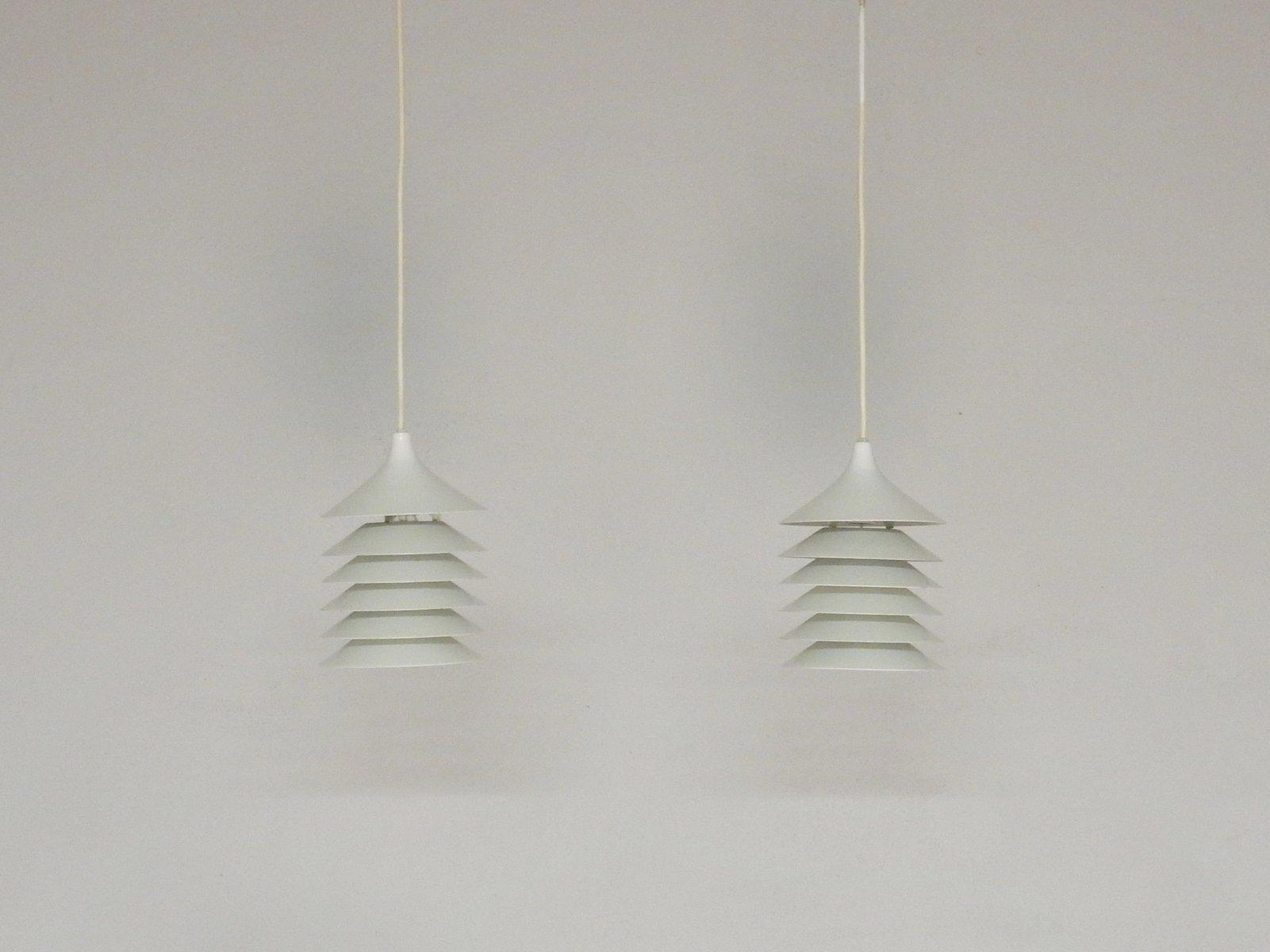 Weisse Vintage Duett Hngelampen Von Bent Gantzel Boysen Fr Ikea 2er Set Bei Pamono Kaufen