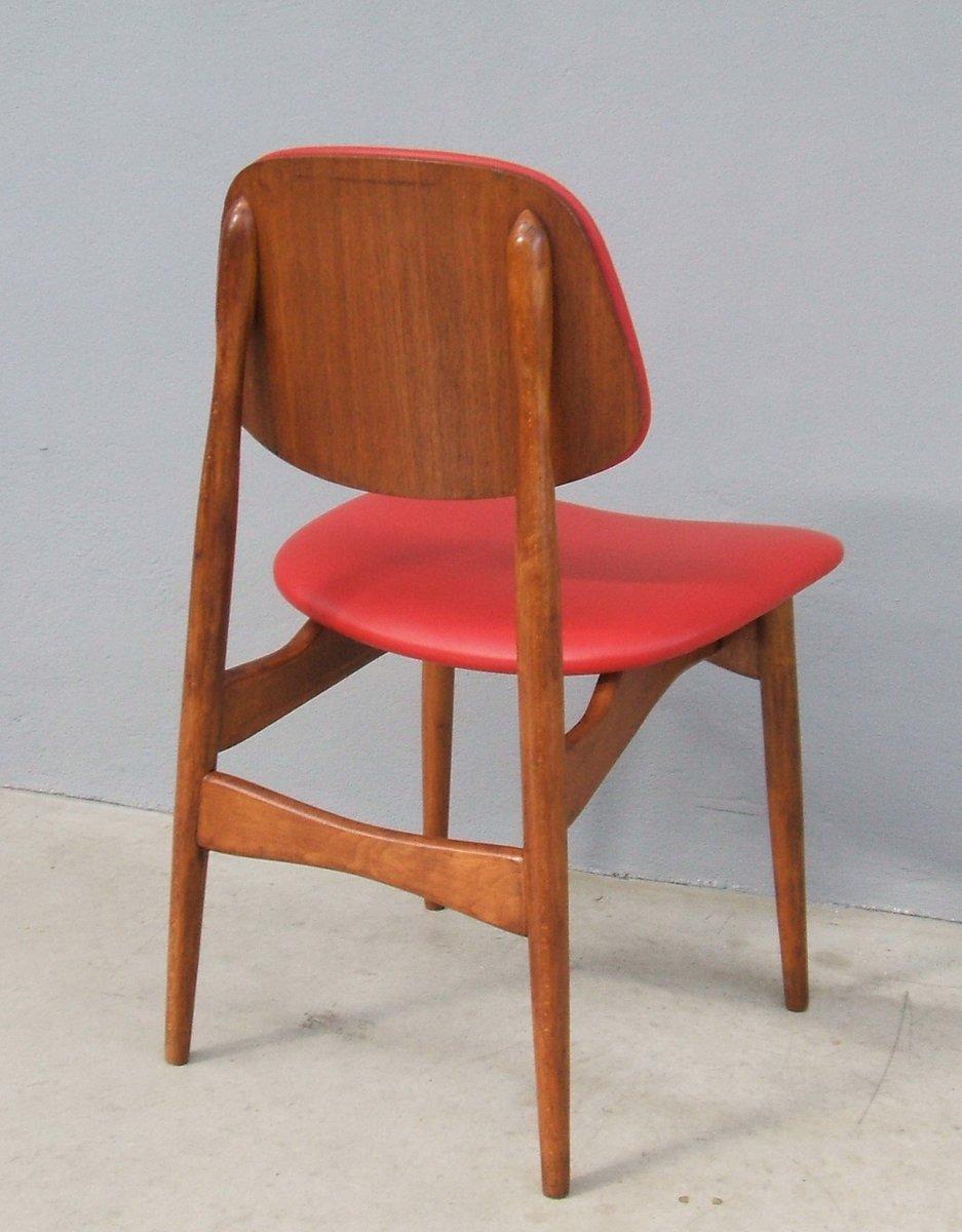 italienische esszimmerst hle aus buche leder 1950er 6er set bei pamono kaufen. Black Bedroom Furniture Sets. Home Design Ideas