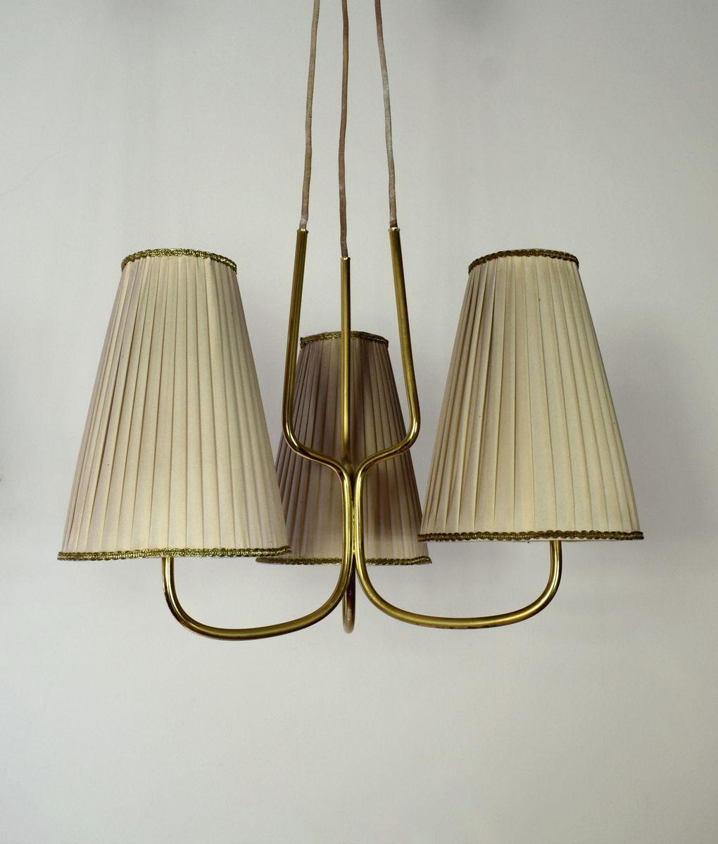 sterreichische h ngelampe mit drei leuchten 1930er bei. Black Bedroom Furniture Sets. Home Design Ideas