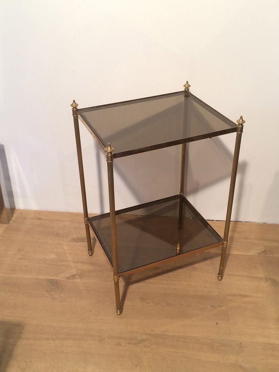 table d 39 appoint en laiton et en verre de maison jansen 1940s en vente sur pamono. Black Bedroom Furniture Sets. Home Design Ideas