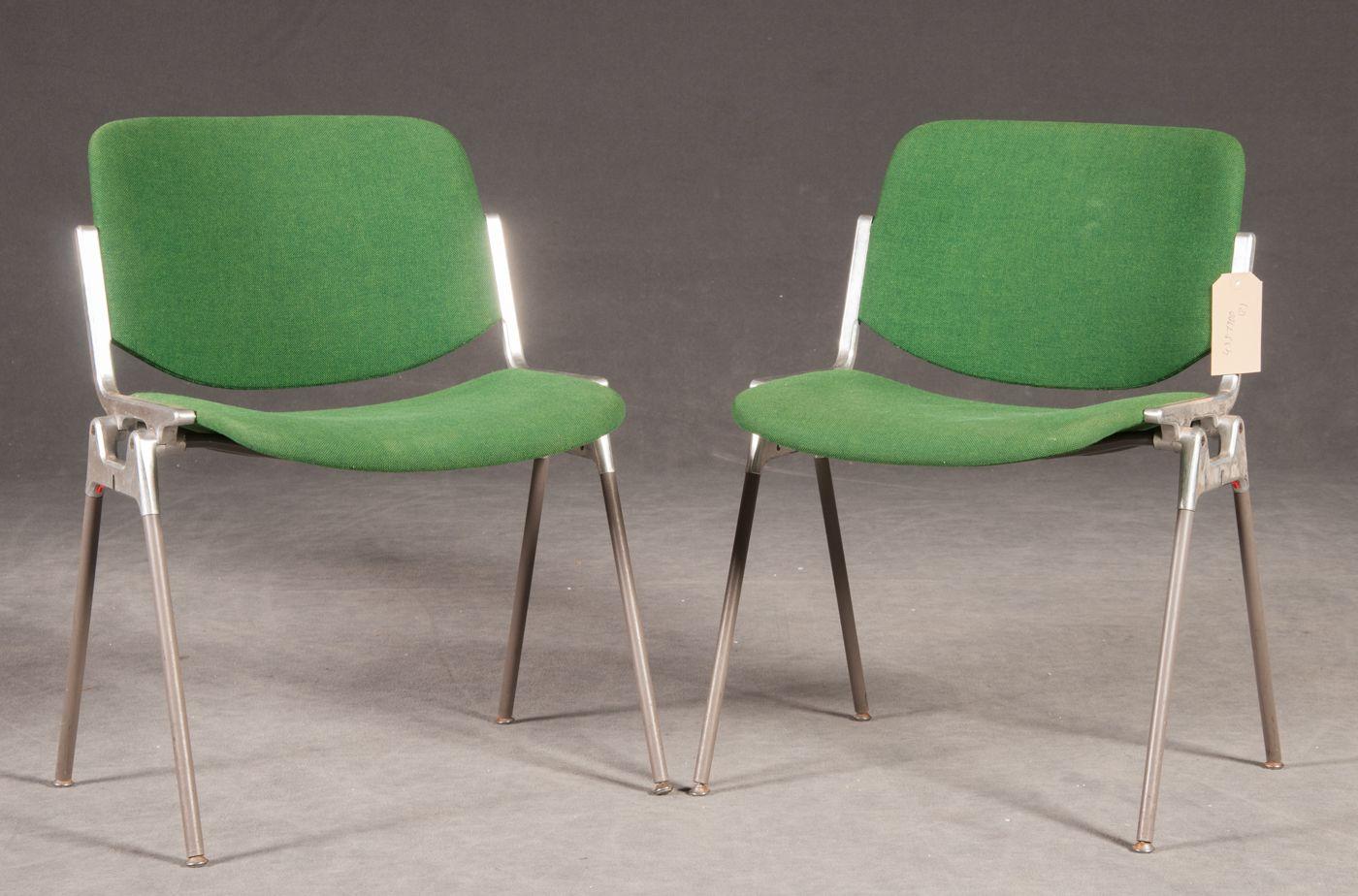 stapelbarer gr ner stuhl von giancarlo piretti f r castelli 1955 bei pamono kaufen. Black Bedroom Furniture Sets. Home Design Ideas