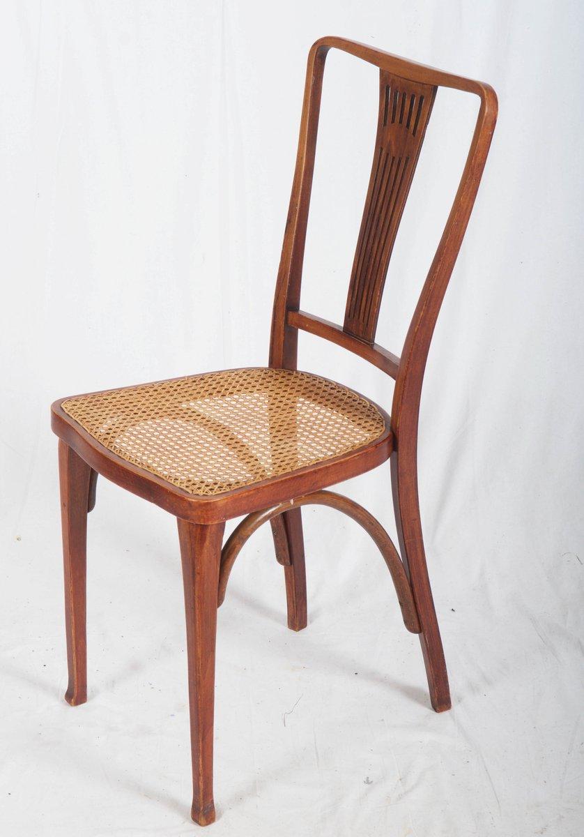 antike jugendstil thonet st hle aus buche schilfrohr von thonet bei pamono kaufen. Black Bedroom Furniture Sets. Home Design Ideas