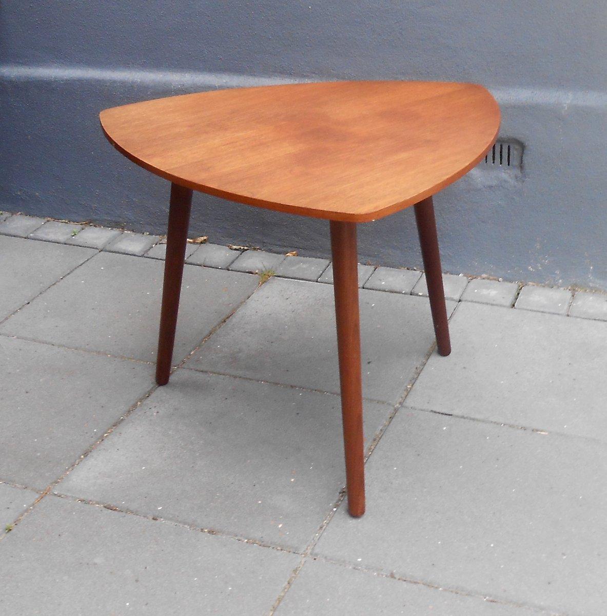 Danish Triangular Guitar Pick Shaped Teak Coffee Table From Mcm 1960s