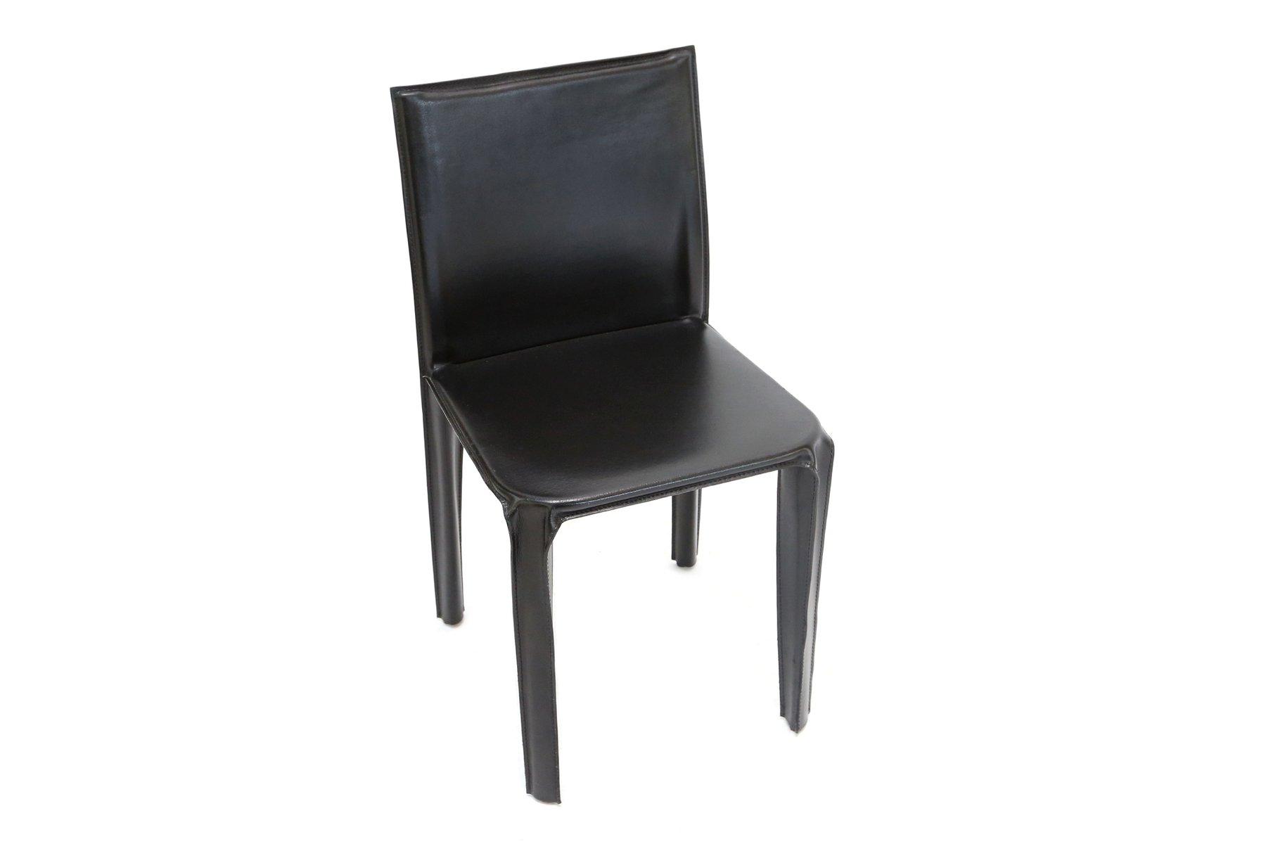 esszimmerst hle aus schwarzem leder von arper 1970er 6er set bei pamono kaufen. Black Bedroom Furniture Sets. Home Design Ideas