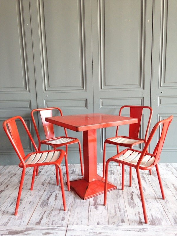 xavier pauchard french industrial dining room furniture. Industrial Dining Set By Xavier Pauchard For Tolix, 1950s French Room Furniture D