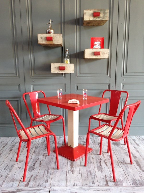 xavier pauchard french industrial dining room furniture. Industrial Red \u0026 White Dining Set By Xavier Pauchard For Tolix, 1950s French Room Furniture H