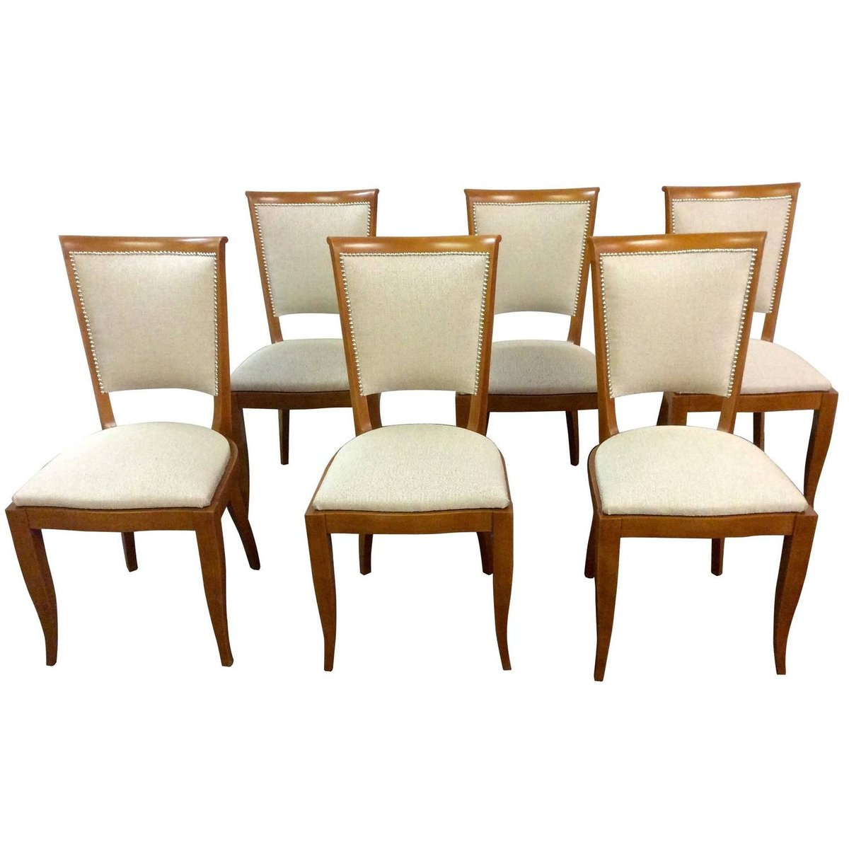 Art deco french dining chairs 1930s set of 6 for sale at for Deco 6 brumath