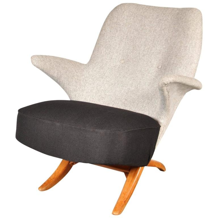 Dutch penguin chair by theo ruth for artifort 1957 for for Dutch design chair uk