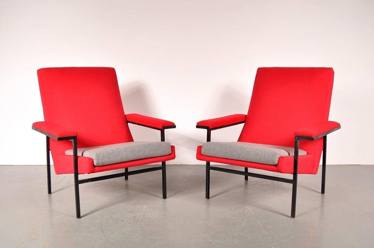 French Armchairs By ARP For Steiner, 1950s, Set Of 2