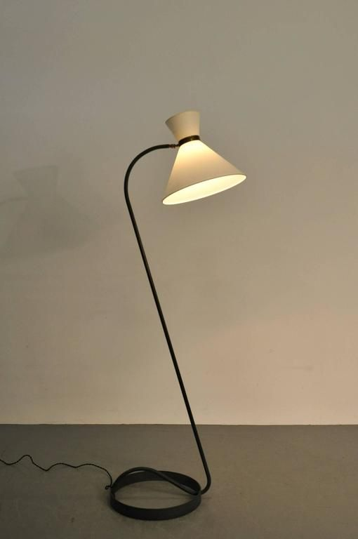 French curved floor lamp from maison lunel 1950s for sale for Floor in french translation
