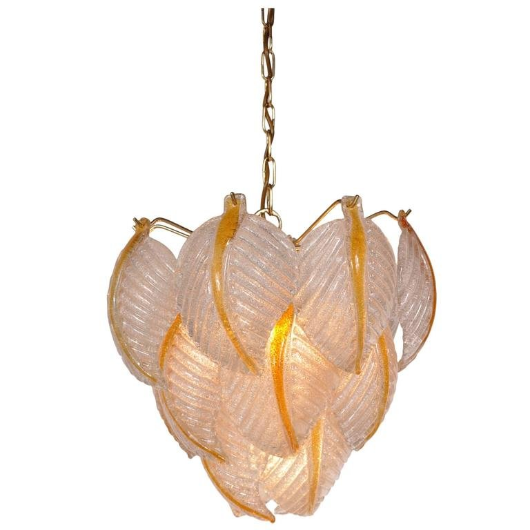 Italian Murano Glass Pendant Lamp From Mazzega 1960s