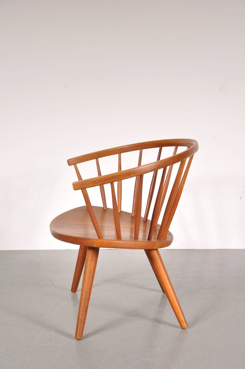 Model Arka Oak Easy Chair by Yngve Ekström for Stolab, 1950s for sale at Pamono