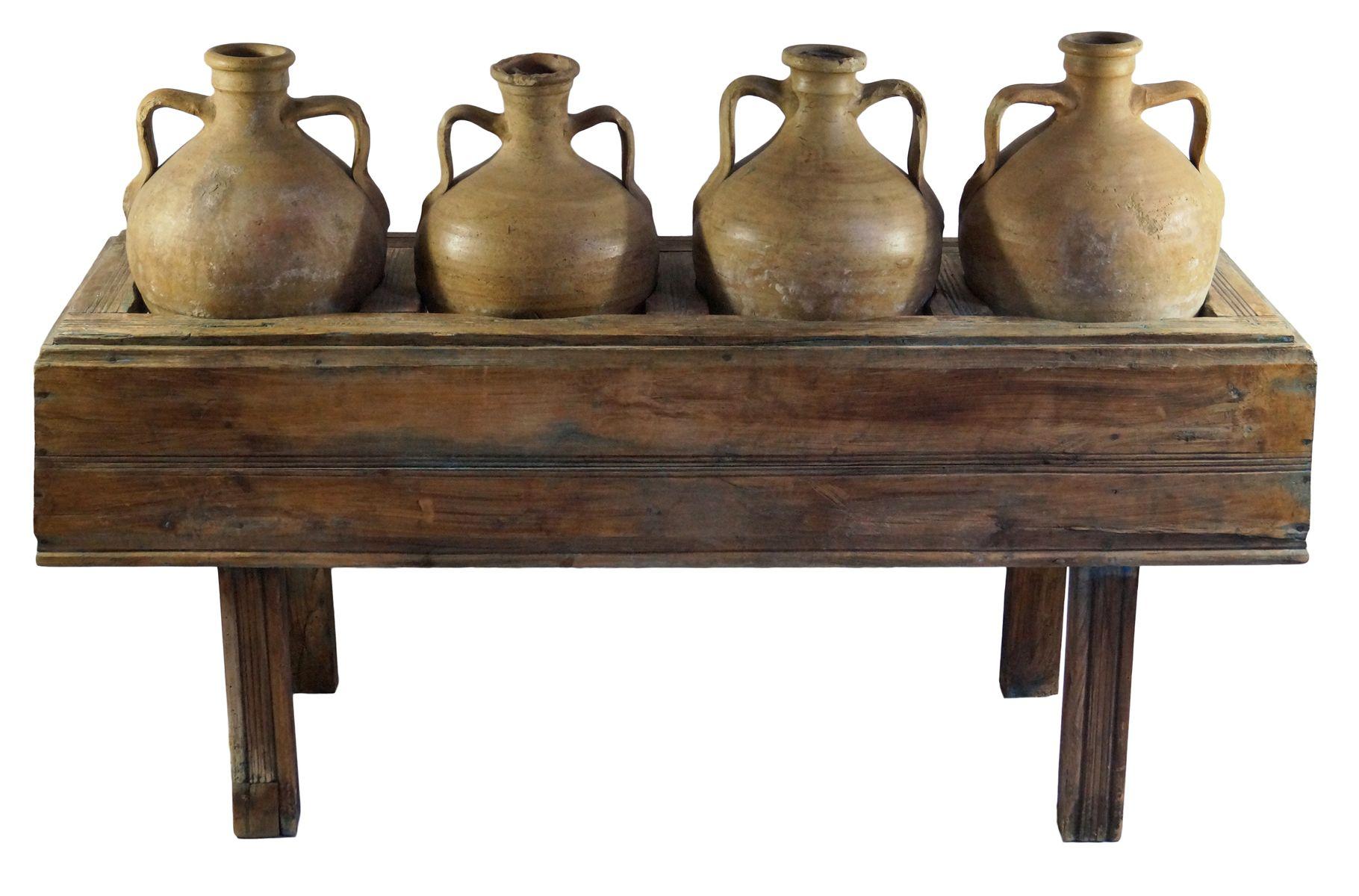 antiker italienischer tisch mit vier oliven lkr gen bei pamono kaufen. Black Bedroom Furniture Sets. Home Design Ideas