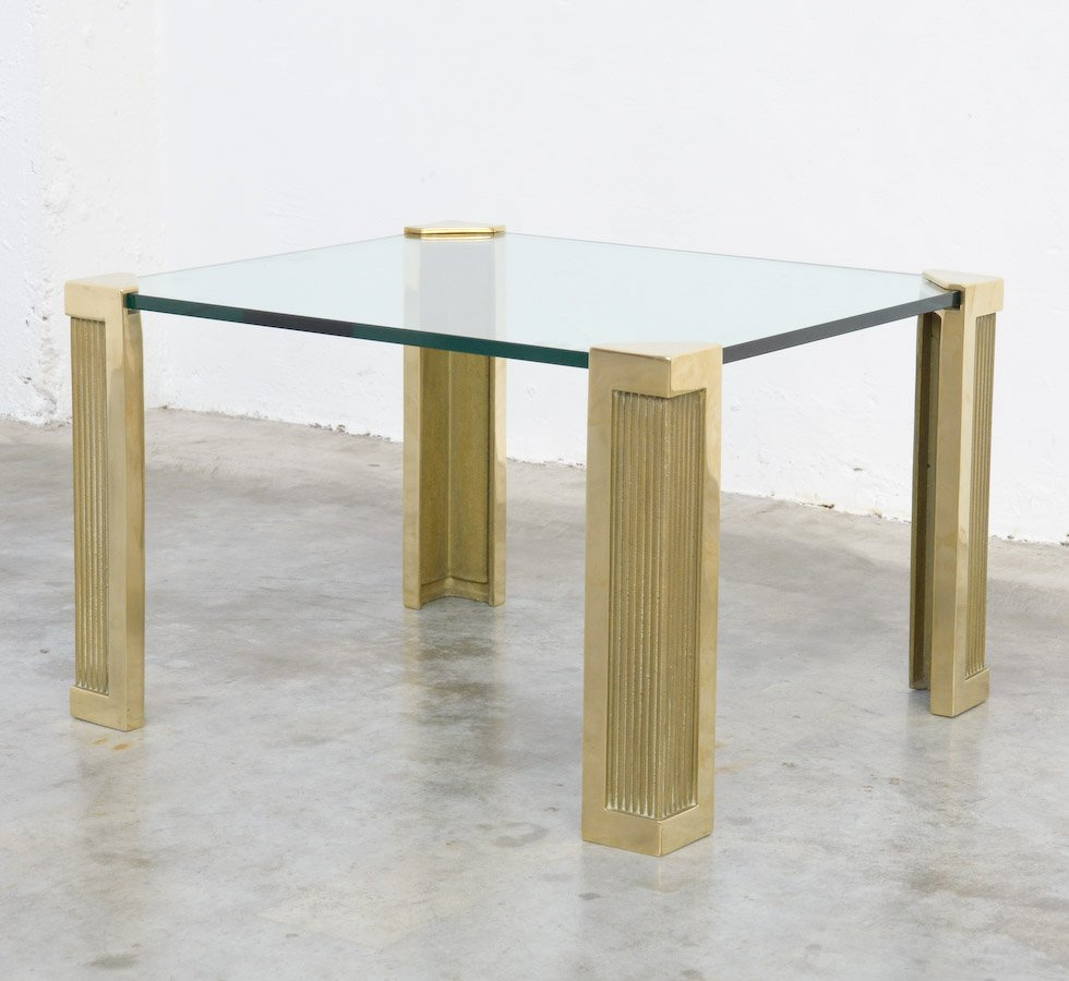 brass com logo table brushed aula no and glass made a in coffee