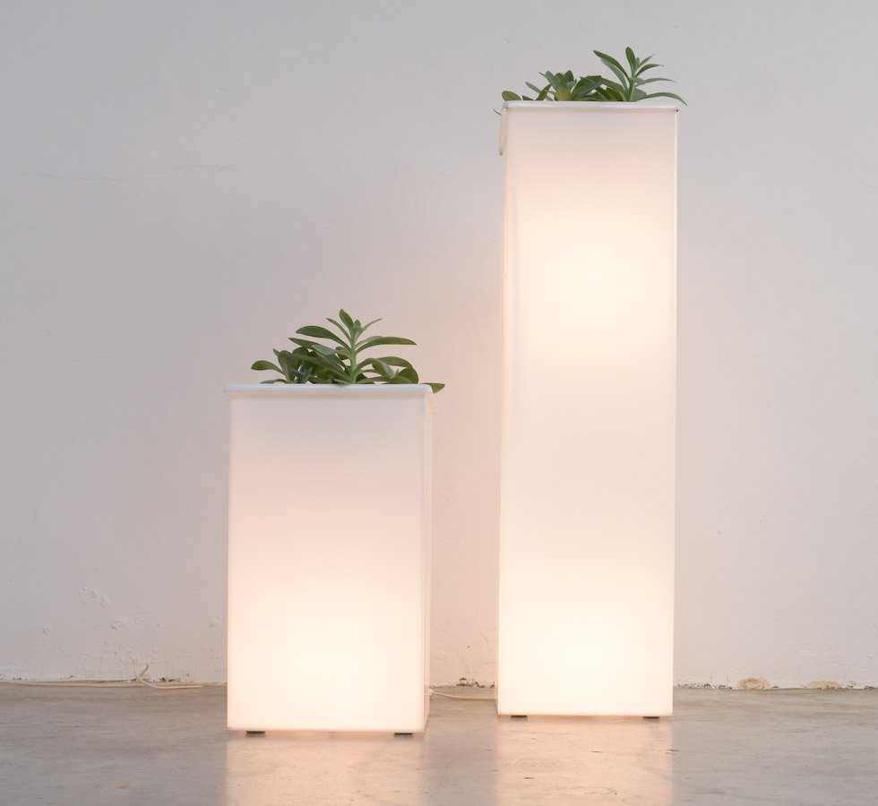 Solar Powered Led Lighted Planter Flower Pot - sears.com