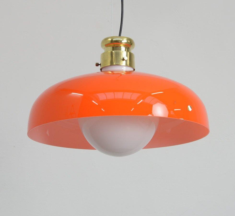 orange murano glass pendant lamp by alessandro pianon for. Black Bedroom Furniture Sets. Home Design Ideas