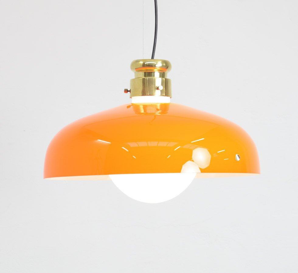 Orange murano glass pendant lamp by alessandro pianon for vistosi orange murano glass pendant lamp by alessandro pianon for vistosi aloadofball Images