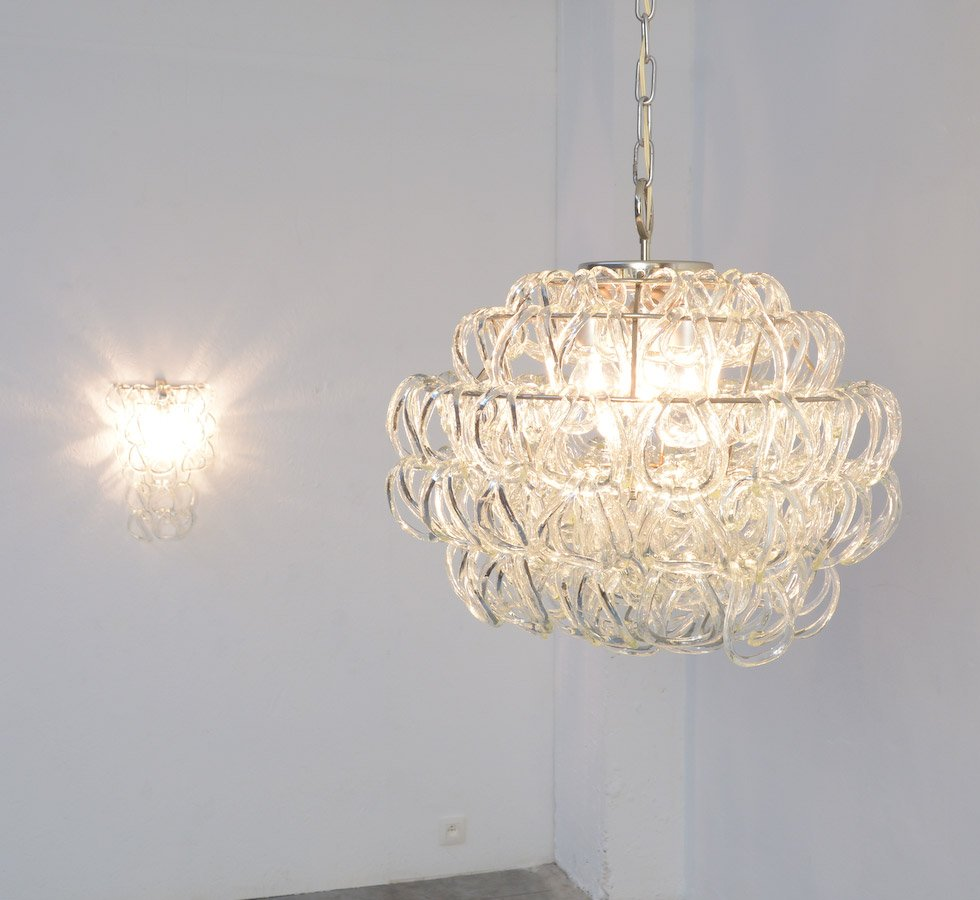 Giogali chandelier by angelo mangiarotti for vistosi for sale at pamono aloadofball Image collections