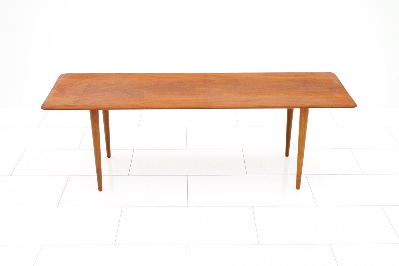 Beautiful Minimalist Teak Sofa Table By Peter Hvidt U0026 Orla Molgaard Nielsen For  France U0026 Son, 1950s