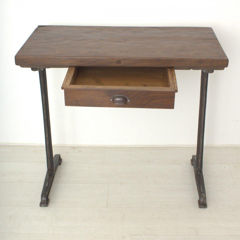 hoher vintage schreibtisch aus nussholz 1920er bei pamono kaufen. Black Bedroom Furniture Sets. Home Design Ideas