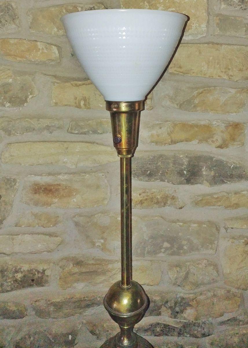 tischlampe aus messing keramik von stiffel bei pamono kaufen. Black Bedroom Furniture Sets. Home Design Ideas