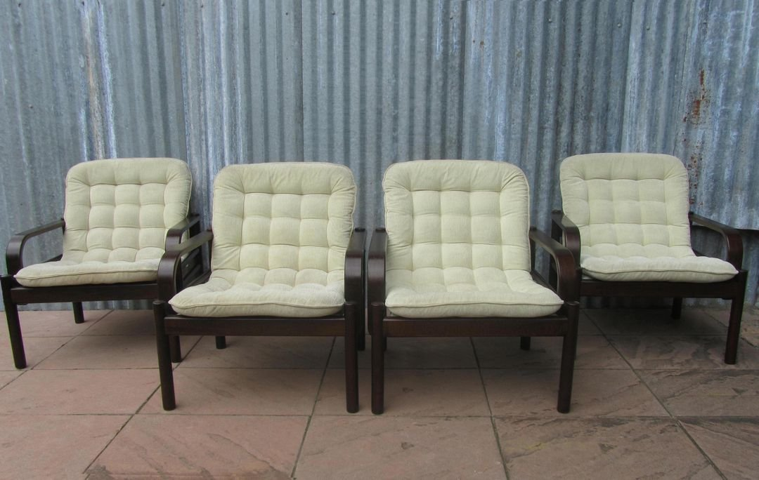 Swedish Lounge Chairs From Miljo Expo, 1980s, Set Of 4