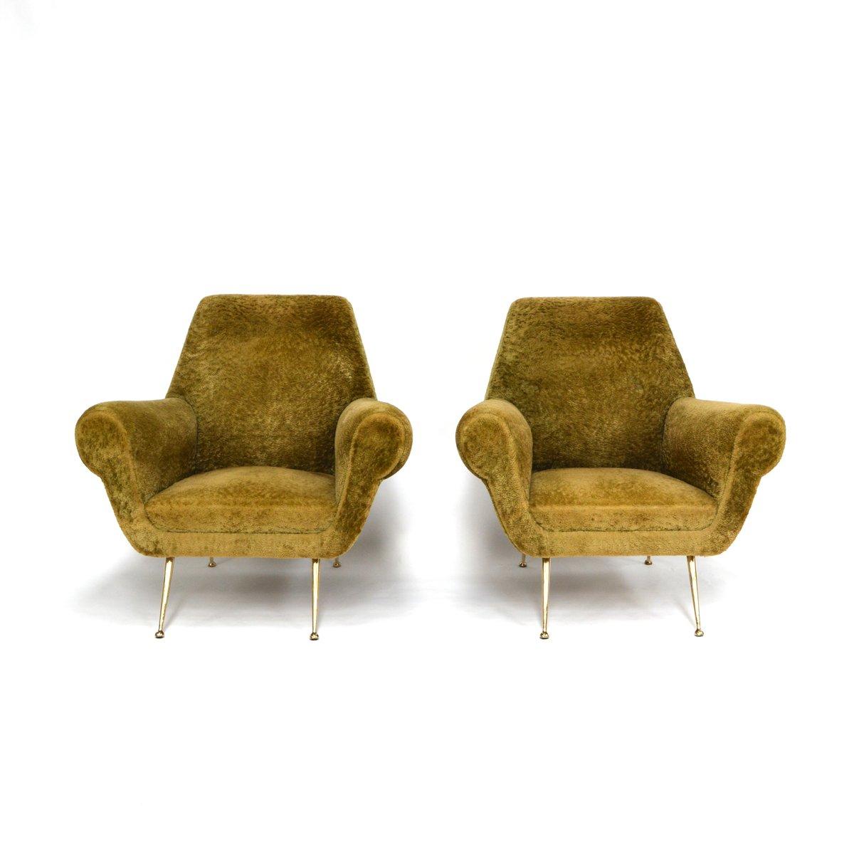 italienische sessel polsterst hle von gigi radice f r. Black Bedroom Furniture Sets. Home Design Ideas